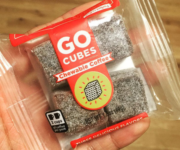 Go Cubes Are Chewable Coffee Cubes, An Alternative To Coffee