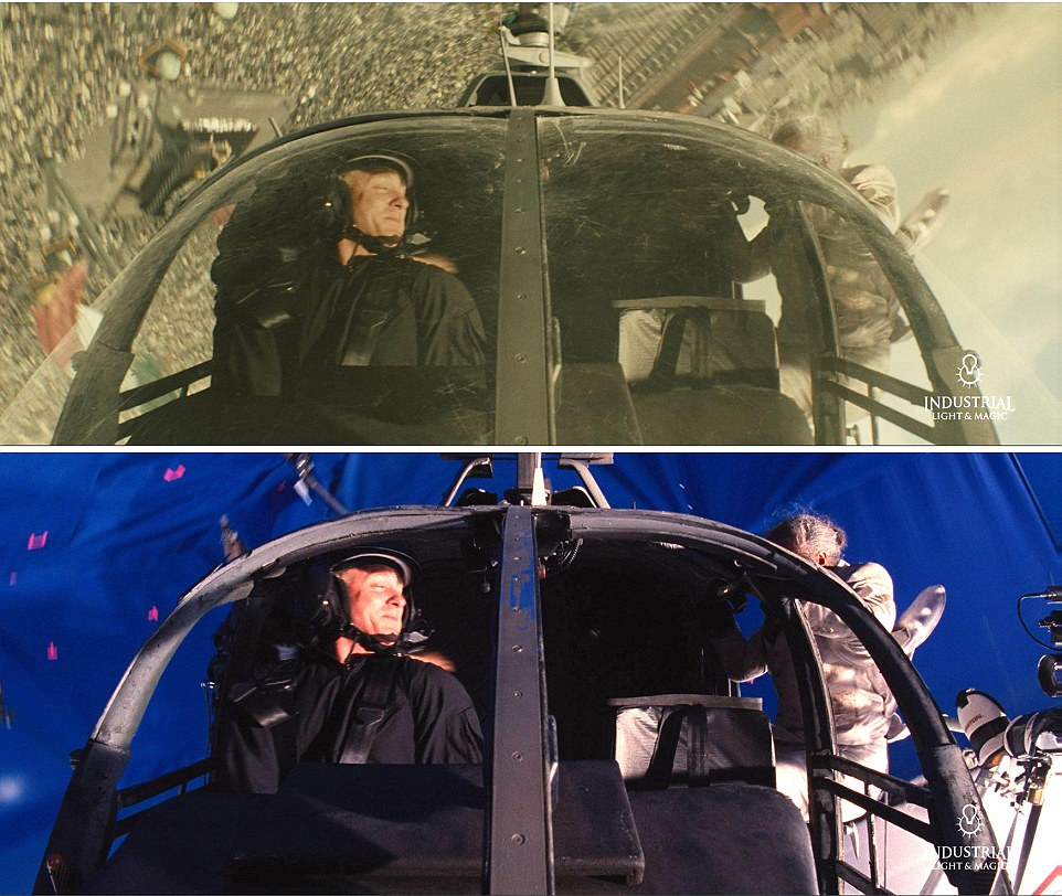Spectre (2015 film) - Special Effects to create a spiralling helicopter fight scene seen in the film as above a crowded Mexico City.
