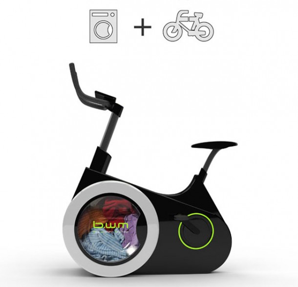 Work Out On This Bike And Get Your Laundry Done As A Side Benefit 2