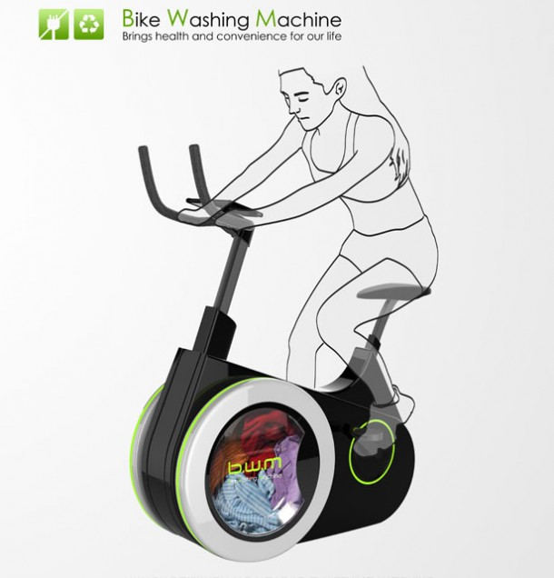 Work Out On This Bike And Get Your Laundry Done As A Side Benefit 6