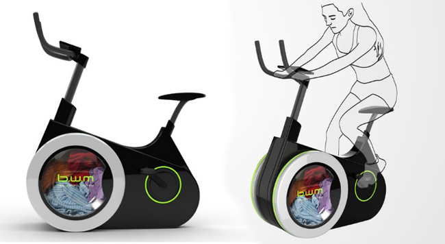 Work Out On This Bike And Get Your Laundry Done As A Side Benefit