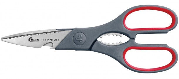 "Clauss 18052 8.25"" True Professional Titanium Multipurpose Shears"