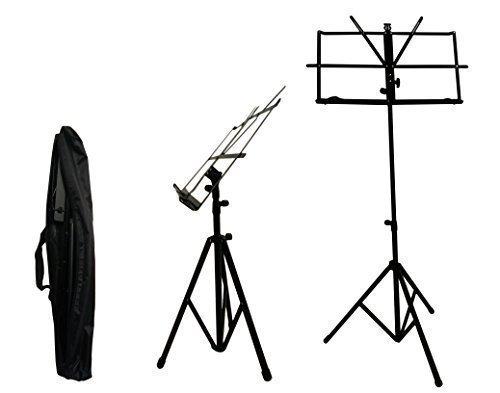Crafty Gizmos Black Adjustable Folding Music Stand