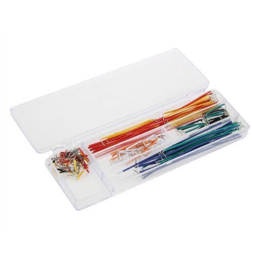 SODIAL(R) 40 Pcs Solderless Flexible Breadboard Jumper Cable