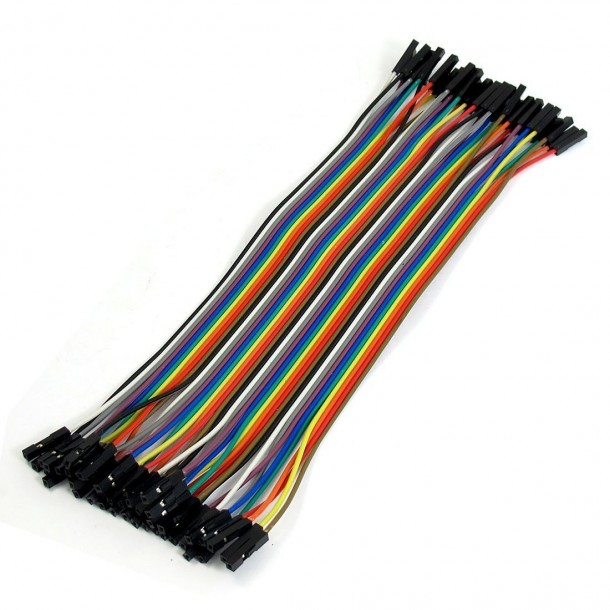 uxcell® 20cm Long F/F Solderless Flexible Breadboard Jumper Cable