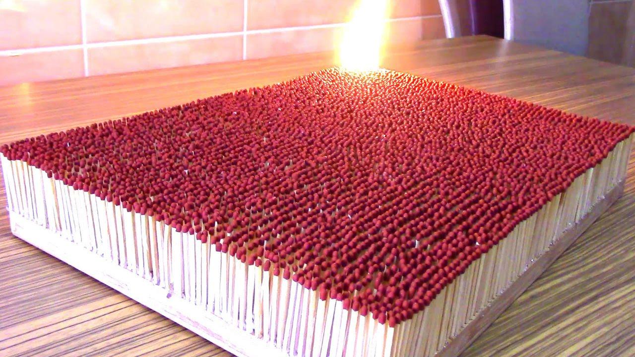 6000 matches burnt