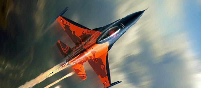 F-16-Falcon-Fighter-Plane-Orange-WallpapersByte-com-2560x1600