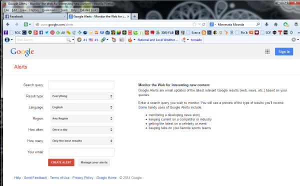 Learn How To Create Google Alerts