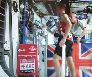 Tim peakes London marathon in space