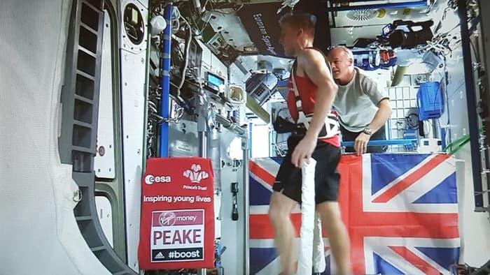 Tim peakes London marathon in space