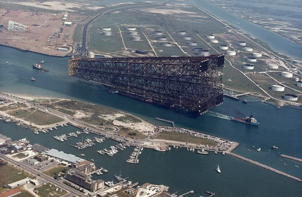 Towing An Oil Platform Out In The Sea Looks Amazing 2