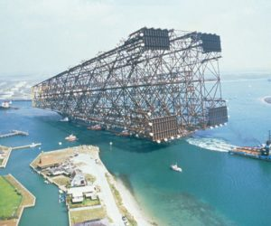 Towing An Oil Platform Out In The Sea Looks Amazing