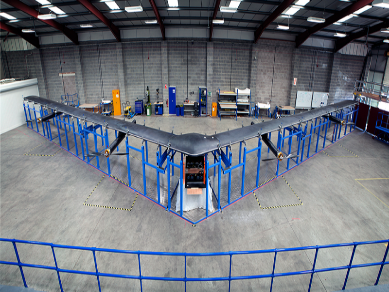 Mark Zuckerberg Shows Off The Enormous Facebook Drone That Will Provide Internet To Everyone