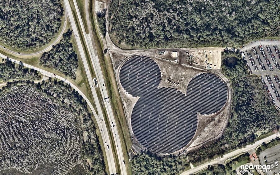 mickey mouse solar plant