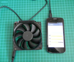 DIY PC fan phone charger