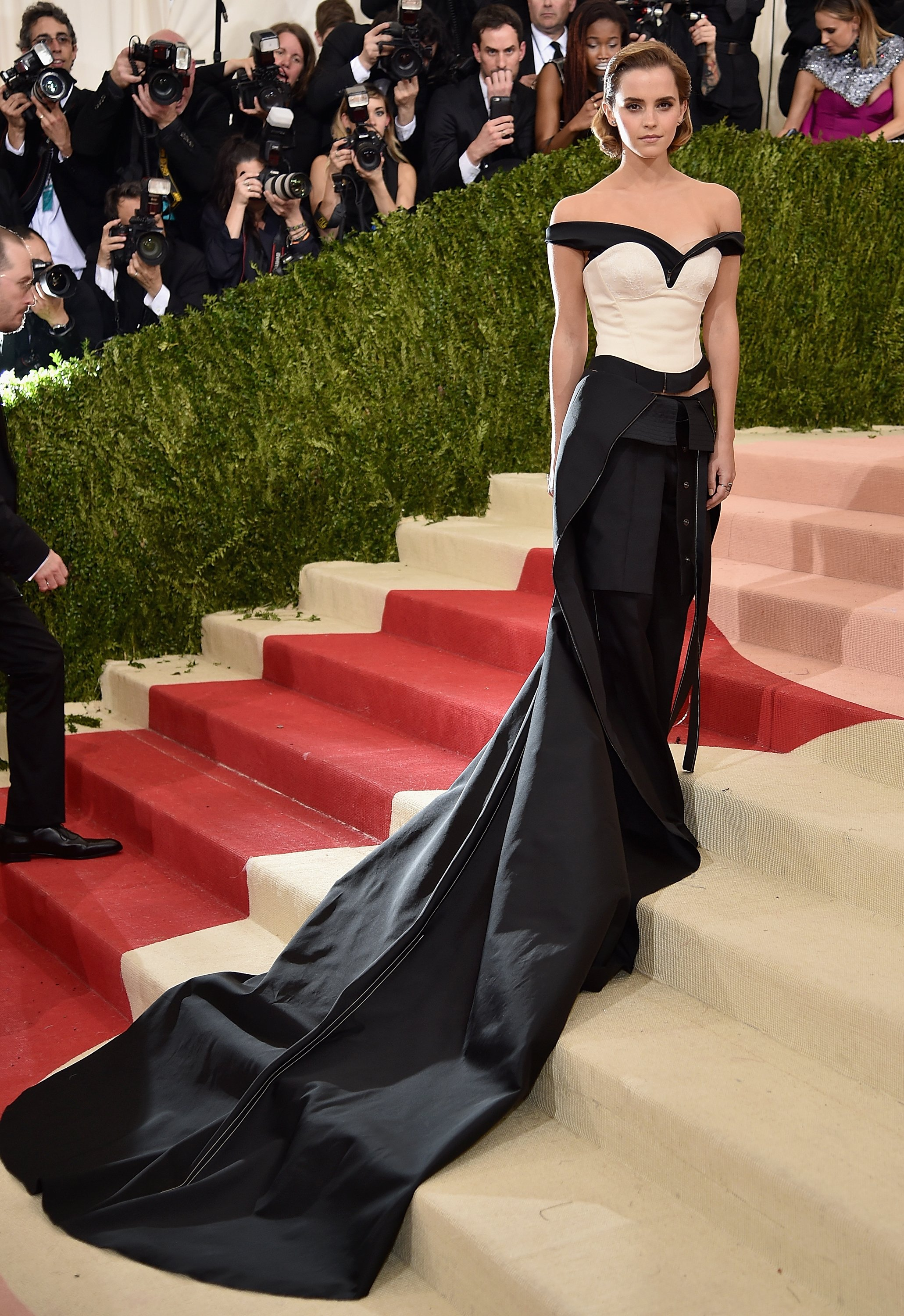 Emma Watson's stuns on the Met Gala Red Carpet in a classy dress fabricated from recycled Plastic Bottles_Image 1