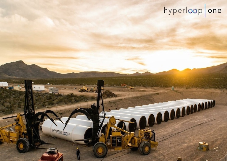 Hyperloop first test