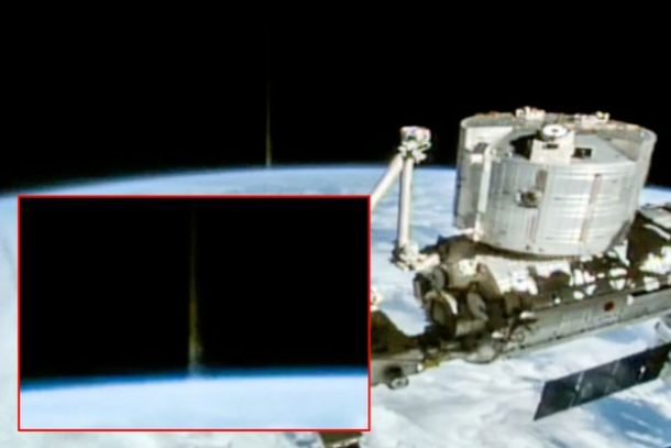 Soaring Beams Of Light Emerging From The Earth Captured In Live Feed Of International Space Station_Image 1