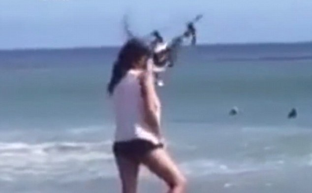 The Horrifying Video Shows Model Take Drone In Her face During a Fashion Shoot_Image 2