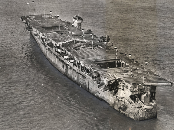 USS independence after being nuked