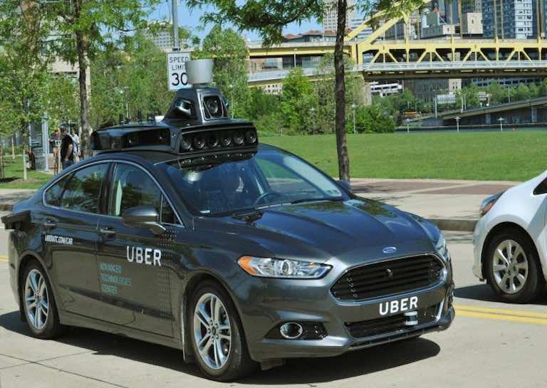 self-driven taxi Uber