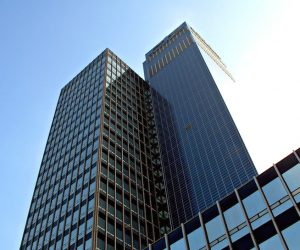 CIS tower England solar panels