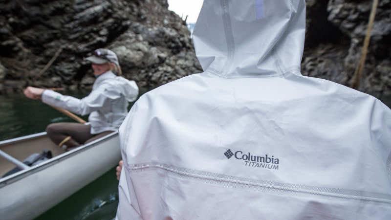 Colombia waterproof jacket from bottles
