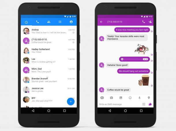 Facebook Adds SMS To Messenger For Android_Image 1