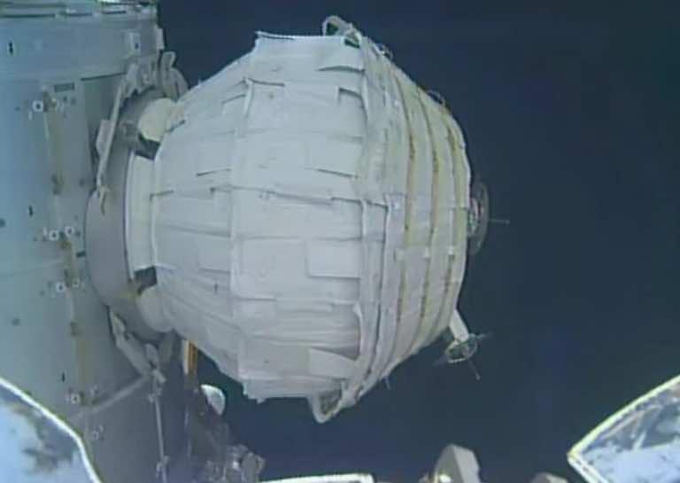 NASA inflatable space capsule
