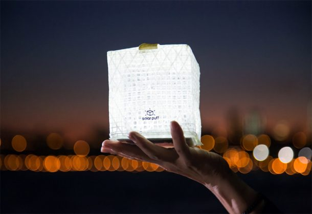 Solight Solarpuff is a lightweight, packable solar lantern
