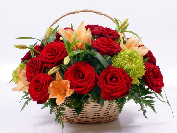 eid flower basket