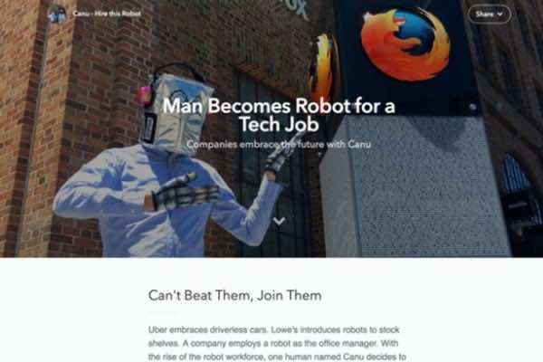 jobseeker becomes robot to land job