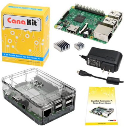 CanaKit Raspberry Pi 3 Kit with Premium Clear Case and 2.5A Power Supply