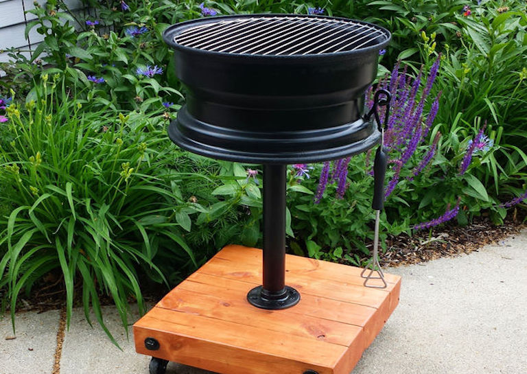 DIY Grill from an Old Tire Rim 5