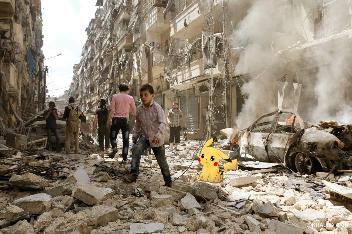 Searching For Pokémon In The Ruins Of Syrian War