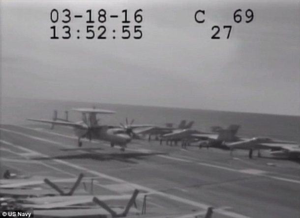Navy Plane Nearly Crashes Into The Sea After Metal Cable Snaps_Image 1