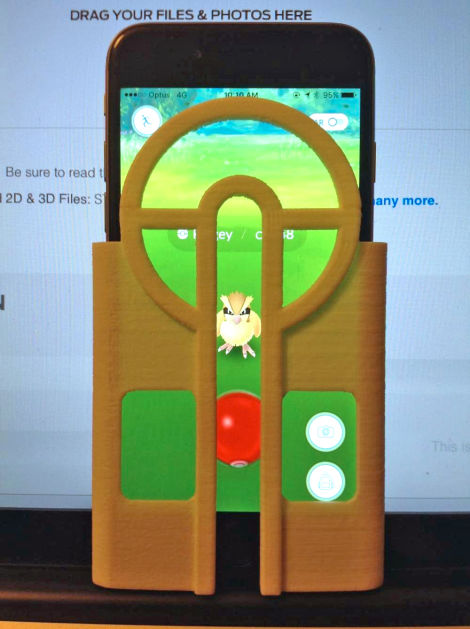 Never Miss Another Pokémon With This 3D Printed Phone Case To Aim Your Pokéballs_Image 2