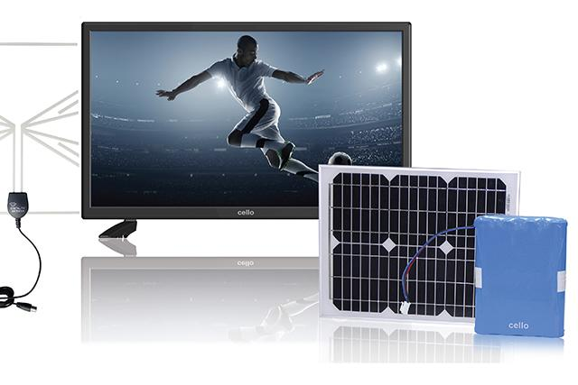 Solar Powered Television