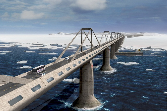 The  Bering Strait bridge tourism destinations