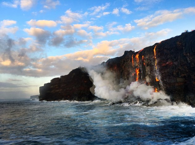 Witness New Land Being Formed As The Molten Lava Flows Into The Ocean In Hawaii_Image 0