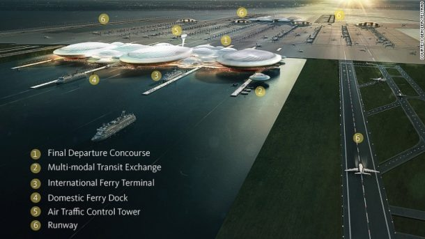 Gensler's Britannia Airport: Rejected in 2014 by UK Airport Commission