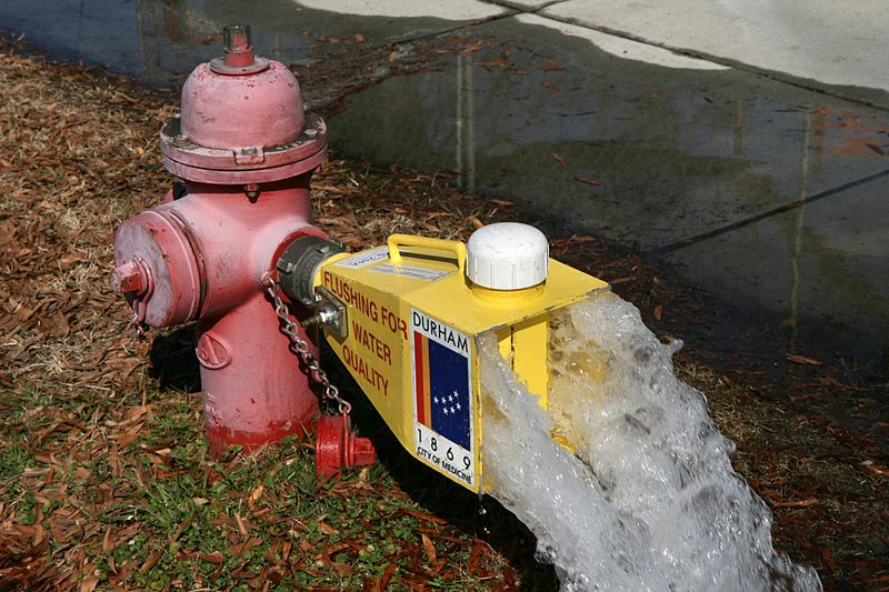 fire hydrants flushing needed