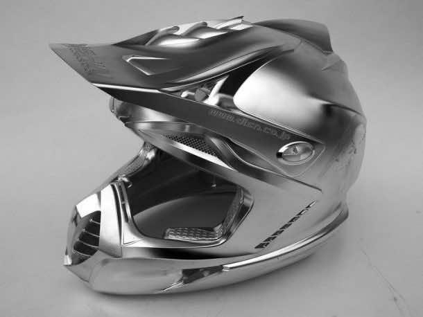 Metal helmet. Credits: pinterest.com