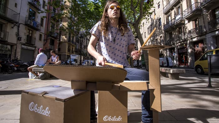 This Cardboard Drum Kit Is The New Portable Beatbox For Instant Music