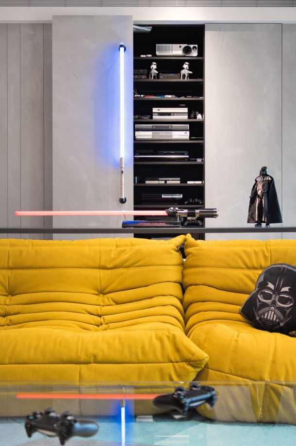 Darth Vader and Storm-trooper cushions and action figures. Credits: HighliteImages