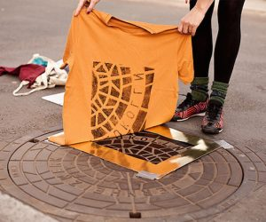 'Pirate Printers' Use Manhole Covers To Print Urban Style Custom T-Shirt Designs_Image 0