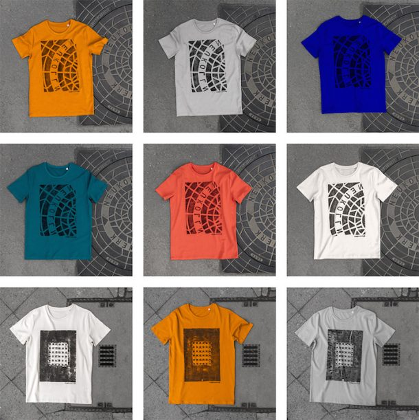'Pirate Printers' Use Manhole Covers To Print Urban Style Custom T-Shirt Designs_Image 1