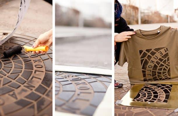 'Pirate Printers' Use Manhole Covers To Print Urban Style Custom T-Shirt Designs_Image 4