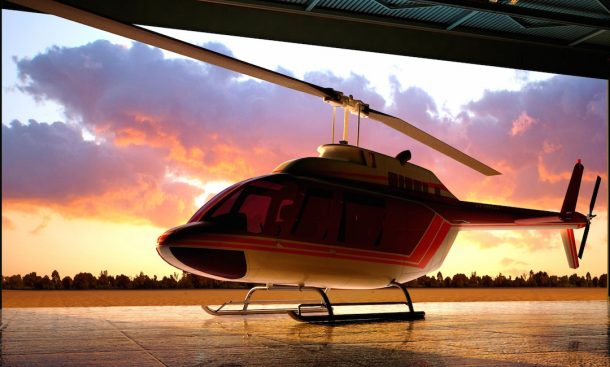 The dining experience starts with a 45-minute helicopter ride over Singapore. Credits: Forbes