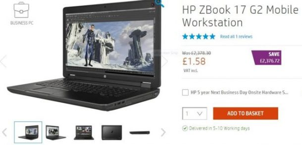 HP's expensive laptops were on sale at a low price. Credits: HP